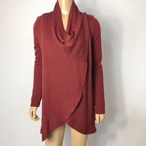 The limited NWT red women's convertible cardigan